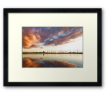 Reflecting on Yachts and Clouds - Lake Ontario Impressions Framed Print
