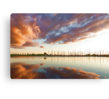 Reflecting on Yachts and Clouds - Lake Ontario Impressions Canvas Print