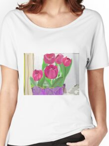 Tulips from Sally Women's Relaxed Fit T-Shirt
