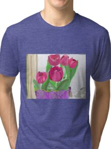 Tulips from Sally Tri-blend T-Shirt