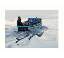 Boatman And Whorls Art Print