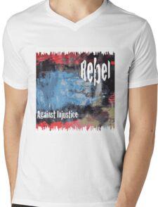 Rebel Against Injustice Mens V-Neck T-Shirt