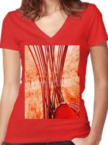 Everything Has Strings  Women's Fitted V-Neck T-Shirt