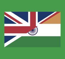 uk india flag One Piece - Short Sleeve