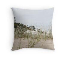 Seal Rocks Lighthouse 2 Throw Pillow