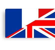 uk france flag Canvas Print