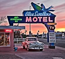 Blue Swallow Motel, Tucumcari, New Mexico by lizziemaher