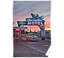 Blue Swallow Motel, Tucumcari, New Mexico Poster