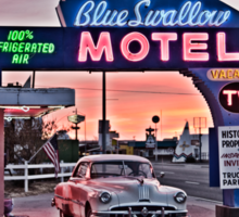 Blue Swallow Motel, Tucumcari, New Mexico Sticker
