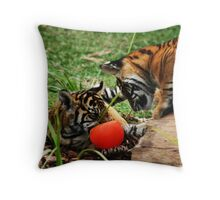 how cool is my red ball? Throw Pillow