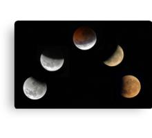 Partial Lunar Eclipse - August 17 2008  Canvas Print