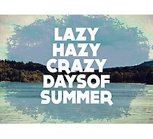 Lazy Hazy Summer Photographic Print