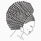 Afro Heart in Black by MiniMumma