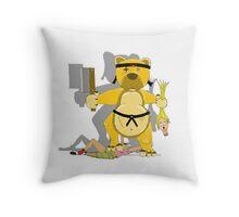 Bears vs Dolls Throw Pillow