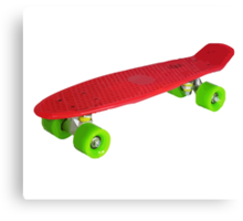Retro Skate - Red version - Amazing transparente effect Canvas Print