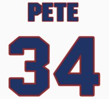 National baseball player Pete Hamm jersey 34 by imsport