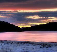 Morar Beach Sunset by Linda  Morrison