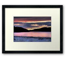 Morar Beach Sunset Framed Print