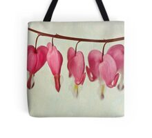 Hearts on the line Tote Bag