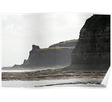 The Cliffs near Staithes, North Yorkshire Poster