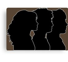 Hermione, Harry, Ron Silhouettes (Harry Potter) Canvas Print