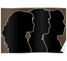 Hermione, Harry, Ron Silhouettes (Harry Potter) Poster