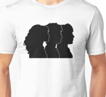 Hermione, Harry, Ron Silhouettes (Harry Potter) Unisex T-Shirt