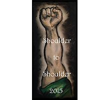 Ireland 6 Nations Rugby 2015 Shoulder to Shoulder Photographic Print