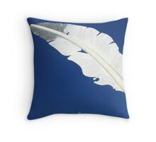 Feather Moon Throw Pillow