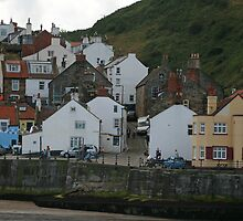 Staithes Harbour Cottages by DRWilliams