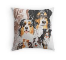 Australian Shepherd /Ghost Throw Pillow