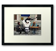 A Little Street Music Framed Print