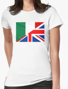 uk italy flag Womens Fitted T-Shirt