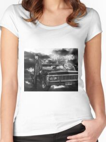 Dean Winchester, Chevy Impala Women's Fitted Scoop T-Shirt