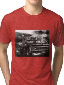 Dean Winchester, Chevy Impala Tri-blend T-Shirt