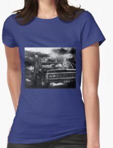 Dean Winchester, Chevy Impala Womens Fitted T-Shirt