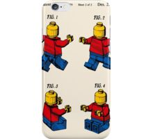 Lego Man Patent - Colour (v3) iPhone Case/Skin