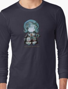 Even Angels Get the Blues in Blues (Sml Design) Long Sleeve T-Shirt