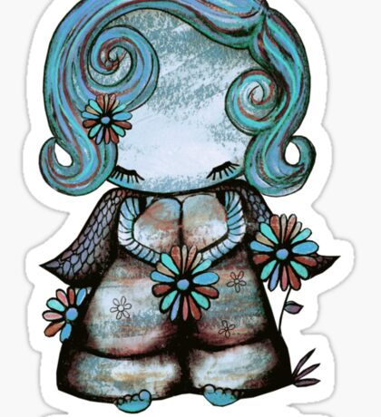Even Angels Get the Blues in Blues (Sml Design) Sticker
