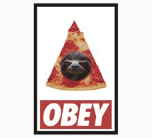 Obey the illuminati pizza sloth  by AfroStudios