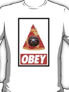 Obey the illuminati pizza sloth  T-Shirt