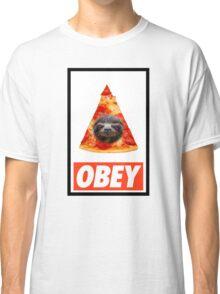 Obey the illuminati pizza sloth  Classic T-Shirt