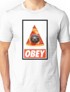 Obey the illuminati pizza sloth  Unisex T-Shirt