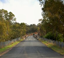 Road over the bridge at Gooloogong NSWales by geoffgrattan