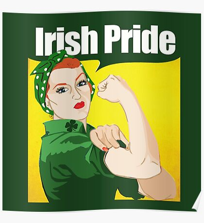 Redhead irish Pride Poster