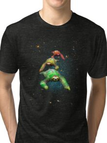 Flying space rasta sloths Tri-blend T-Shirt