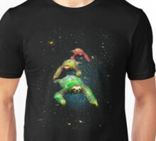 Flying space rasta sloths Unisex T-Shirt