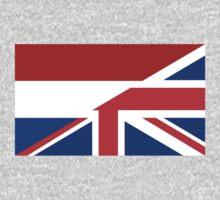 uk netherlands flag One Piece - Long Sleeve