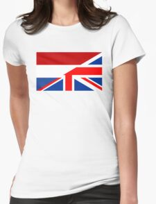uk netherlands flag Womens Fitted T-Shirt