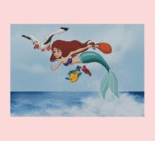 "The Little Mermaid - Ariel ""Flying with Scuttle"" Kids Clothes"